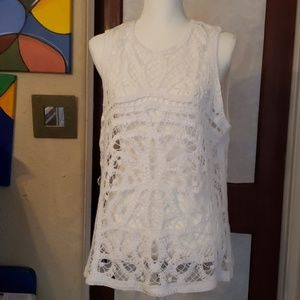 2/$20 ANA crochet sleeveless top